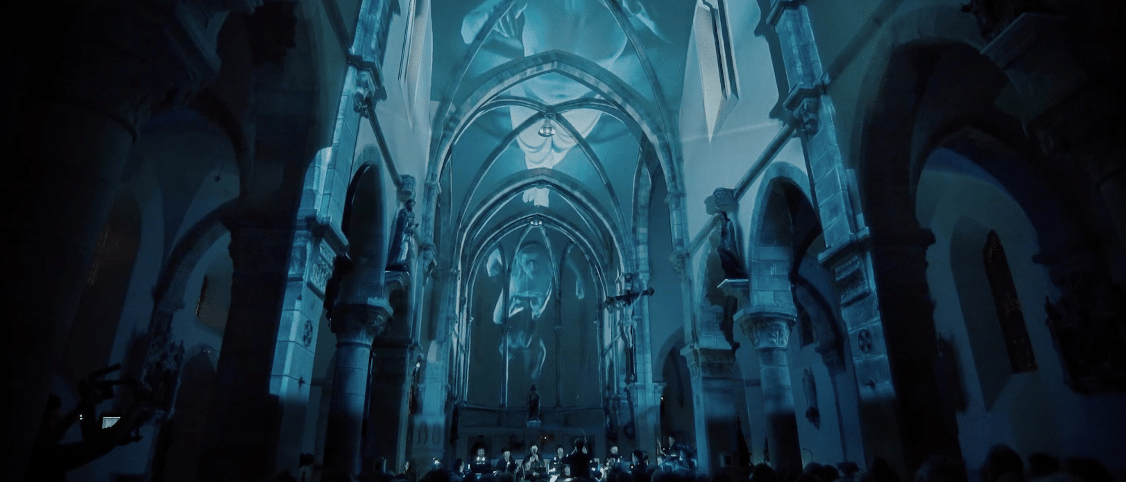 vidéo projection mapping avec orchestre musical