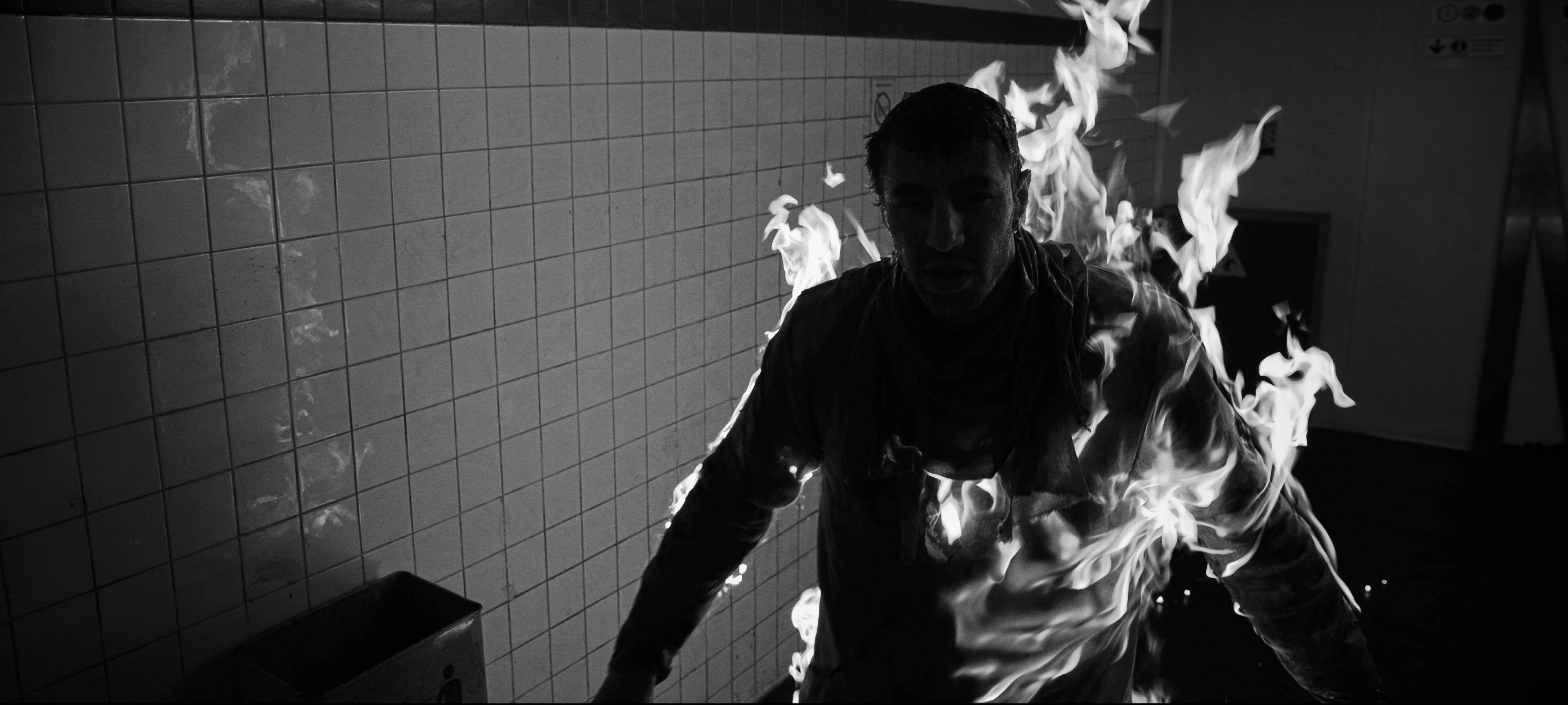 cascade effet speciaux feu pour film court métrage