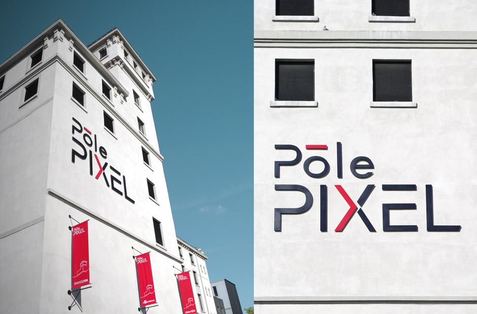 photo batiment bureau imagista Lyon au pole pixel