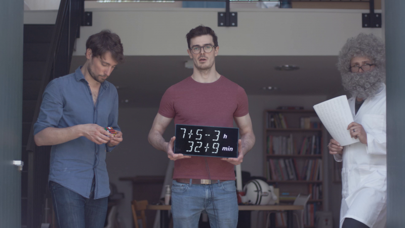 crowd funding video for Albert Clock design product
