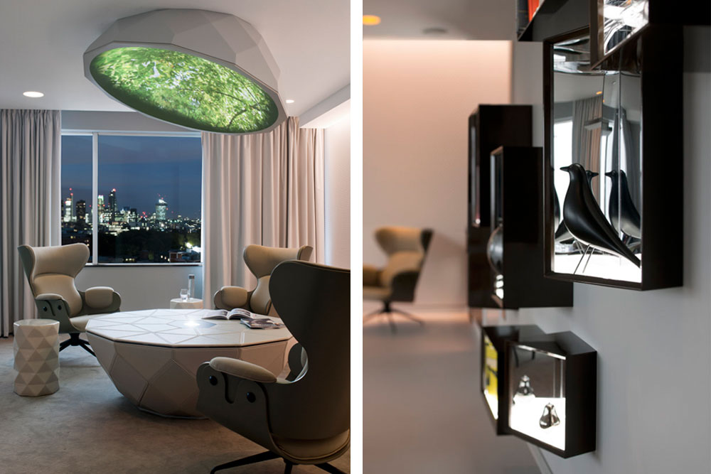 contenus audiovisuels pour architecture d'intérieur